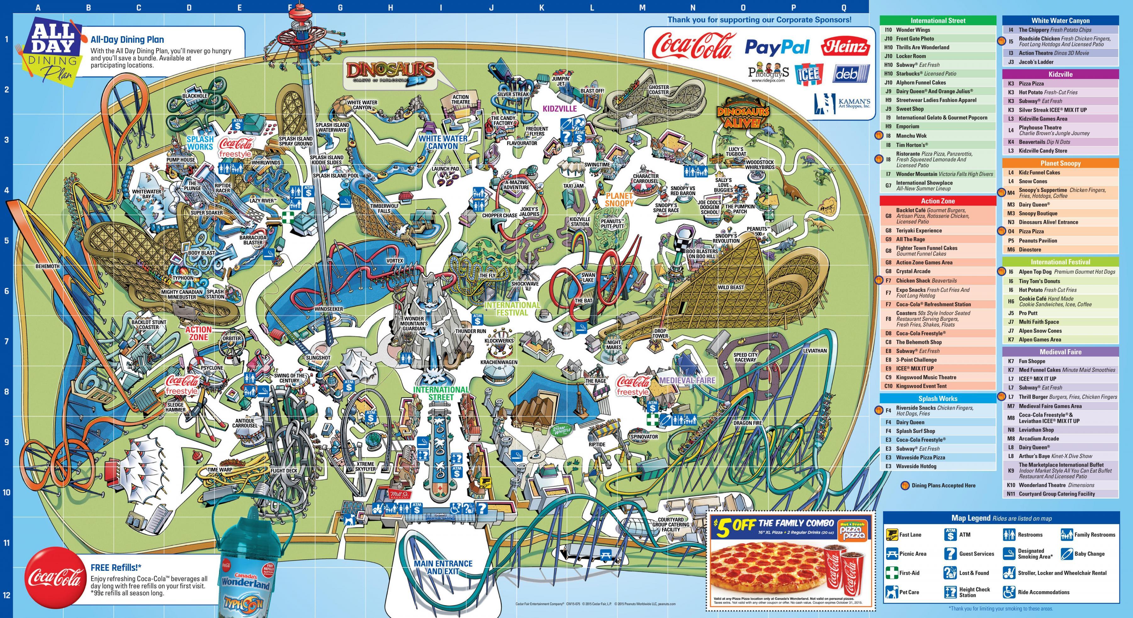 Karta Pa Kanada.Canada S Wonderland Karta Karta Av Canada S Wonderland Kanada